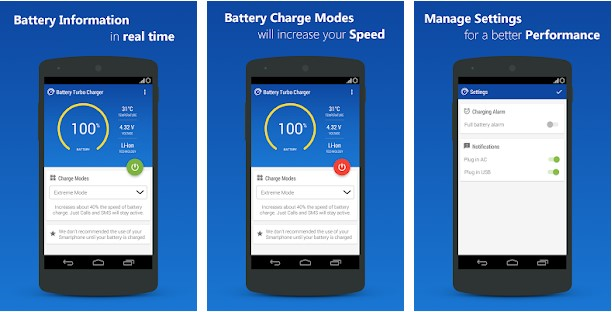 Battery Turbo – fast charging: